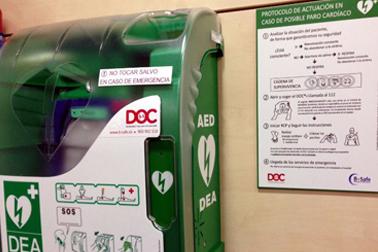 Instalación desfibrilador en Madrid DOC